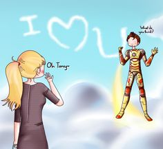 Tony and Pepper: Message in the sky by ice-cream-skies.deviantart.com on @deviantART
