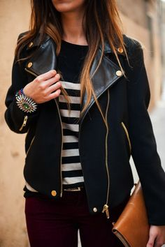 stripes with a moto