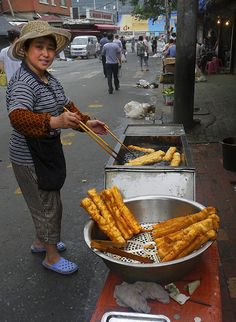 Churros in Dalian, Liaoning Province, China.   - Explore the World with Travel Nerd Nici, one Country at a Time. http://TravelNerdNici.com