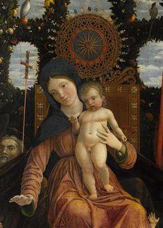 Andrea Mantegna: Madonna of Victory (detail, 1496)