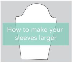 Tutorial: How To Make Sleeves Larger! Do you find sewing patterns don't fit your bodacious biceps? Don't worry - it's easy to do a pattern adjustment to give you enough room to be comfortable. Sewing Hacks, Sewing Tutorials, Sewing Crafts, Sewing Tips, Sewing Ideas, Sewing Lessons, Sewing Blogs, Sewing Patterns Free, Free Sewing