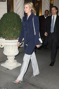 Strut your stuff like Ivanka in some grey suede pumps  Click 'visit' to buy it now   #DailyMail
