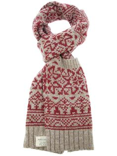 red fairisle knitted scarf - Google Search