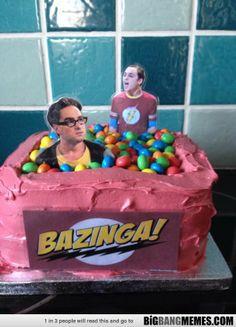 #Bazinga Big Bang Theory cake