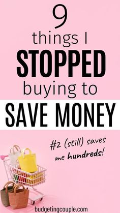 You're broke because you continue to buy stuff you don't need. WHY? Be more strategic with your money. Check out this list of items that you need to stop buying today! Take this first step towards living for frugal and saving money. Budgeting Couple | Budgeting Couple Blog | BudgetingCouple.com