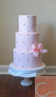 Blush Pale Pink Baby Shower Cake