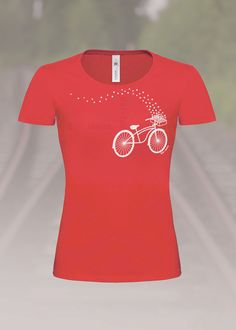 Fahrrad T-Shirt Rot Bike T-Shirt Red