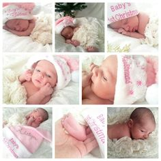 A home, baby photo session. Baby's 1st christmas