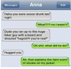 Drunk Harry potter text