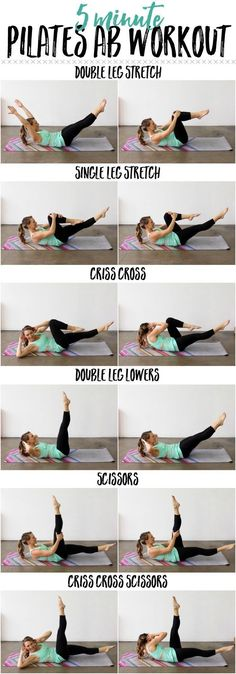 Whittle your waistline with this 5 Minute Pilates Ab Routine!Whittle your waistline with this 5 Minute Pilates Ab Routine!p 5 minute Abs Fitness Workouts, Fitness Motivation, Lower Ab Workouts, Easy Workouts, Yoga Fitness, At Home Workouts, Health Fitness, Ab Exercises, Stomach Exercises