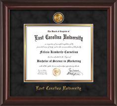 ECU Diploma Frame -