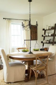 Neutral Farmhouse Dining Room
