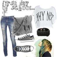 cute emo outfits   clothes, emo, fashion, scene, school - inspiring picture on Favim.com