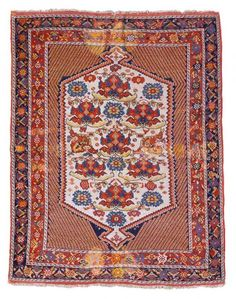 Persian Afshar Rug Late 19th C