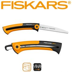 Fiskars Xtract™ Builders Saw SW72 features fine teeth for cutting wood strips and boards. It also comes with a handy belt clip which retracts when in use.  www.spica.com.lb