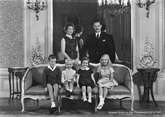 Jean and Josephine Charlotte with their children