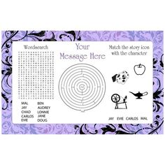 Check out Evil Heirs Personalized Activity Mat (Each) - Wholesale Party Supplies from Wholesale Party Supplies