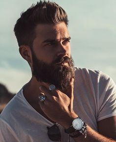 ▷ ideas for hipster beard and cool looks by men - Tattoos Männer - Schmuck Beard Styles For Men, Hair And Beard Styles, Hair Styles, Great Beards, Awesome Beards, Bart Tattoo, Sexy Bart, Cooler Look, Beard Growth