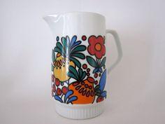 Retro small ceramic jug with handle on Etsy, £10.31