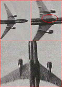 The red circle shows a bomb -What the government tells you about the 9/11 incident,it's not true.