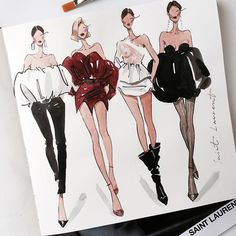 fashion illustrator #fashionillustration #art @marina_sidneva