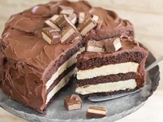 Blogger Heather Baird of a SprinkleBakes shares a recipe for an over-the-top layered chocolate cheesecake. (bettycrocker .com)
