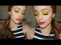 Lime Green Makeup Tutorial + 3 Lip Options! - Kathleen Lights - I love neon eye looks