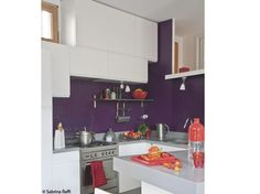 cuisine blanche mur prune | What about the kitchen !? | Pinterest ...