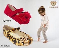 Ser fashion não é coisa só de adulto. As meninas adoram se sentir como princesas e a Amoreco também. Um calçado no pé pode mudar tudo. Confira as sapatilhas da Amoreco na Adoro Presentes. #AdoroPresentes #Moda #Onça #Vermelho #Amoreco #Criança #menina #girl #princesa #Sapatilhas