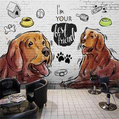 3D Pet cartoon wallpaper - 120W x 75H inches / Peel & Stick Paper
