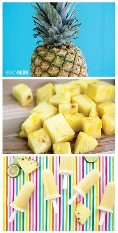 Tropical Pineapple Popsicle- keep cool during summer with this sweet, low-cal treat!