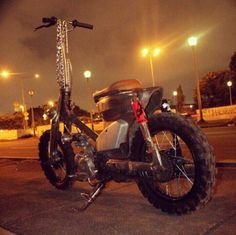 The cabe-cabean , ramshackle custom motorcycle