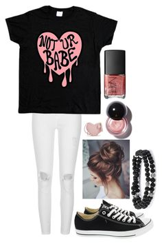 """Simple Heartbreak"" by dark-jewel ❤ liked on Polyvore featuring River Island, Converse and NARS Cosmetics"