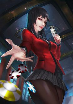 Jabami Yumeko by CGlas on DeviantArt Anime Sexy, Female Characters, Anime Characters, Manga Anime, Anime Art, Ecchi, Animes Wallpapers, One Punch Man, Yandere