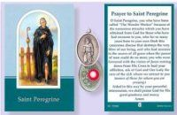 Prayer Verse Card Saint St Peregrine with Silver Coloured Relic Medal Catholic Medals, Catholic Gifts, Prayer Verses, Prayer Cards, Verses For Cards, St Therese, Patron Saints, St Francis, Online Gifts