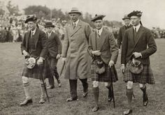 The then Duke of Windsor (later Edward VIII/Duke of Windsor), the then Duke of York (later George VI), Prince Henry, Duke of Gloucester and I guess their uncle Alexander (Alge), the Earl of Athlone (brother of Queen Mary).