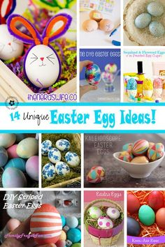 Ready to try something new this Easter? Check out these 14 Unique Easter Egg ideas. Spring Crafts, Holiday Crafts, Holiday Ideas, Tie Dyed Easter Eggs, Easter Parade, Hoppy Easter, Easter Crafts For Kids, Egg Decorating, Easter Treats