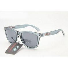 clear oakleys  $12.99 Oakley Frogskins Sunglasses light blue lens clear orange ...