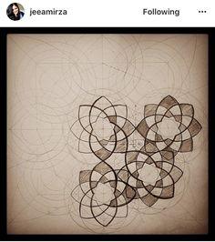 Geometry Art, Sacred Geometry, Art Ancien, Islamic Patterns, Islamic Architecture, Pattern Drafting, Geometric Designs, Mandala Design, Islamic Art