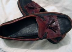 Men's Sperry Dock Shoes Comfort Loafers Slip-on 2 Tone Sz 10 Med Tassel Preppy  #Sperry #LoafersSlipOns