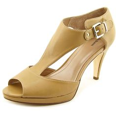 """Style & Co Bethanee Women US 7.5 Tan Sandals. The style name is Bethanee. The style number is BETHANEE-CAM. Brand Color: Camel (Main Color: Beige). Material: Synthetic. Measurements: 3.5"""" heel. Width: B(M)."""