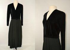 1980s Chetta B Black Formal Dress by KrisVintageClothing on Etsy