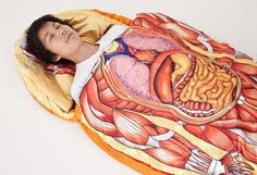 The Anatomical Model Sleeping Bag Turns You into a Sleeping Diagram #camping #outdoors trendhunter.com