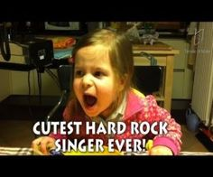 The World's Cutest Hard Rock Singer