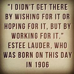 Estée Lauder. Inspirational business woman