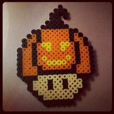 Hallloween mushroom hama beads by pix_attack