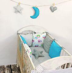 Baby Nestchen Bettumrandung 210 cm Design9 Bettnestchen Kantenschutz Kopfschutz für Babybett Bettausstattung