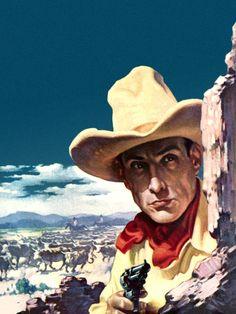 * Pulp Art, Cowboys, Cowboy Hats, Westerns, Horses, Guns, Fashion, Weapons Guns, Moda