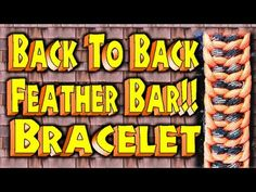 How to Make A Paracord  Back to Back Feather Bar With Buckles --By MrCoop