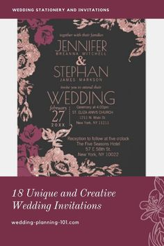 Are you getting married and looking for beautiful and creative wedding invitations? Find wedding invitations, see photos and get ideas for creative ways to word them! #CreativeWeddingInvitations #WeddingInvitationIdeas #BoldWeddingInvitations #ModernWeddingInvitations #CasualWeddingInvitations